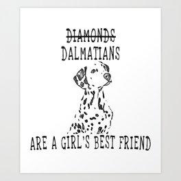 Cute Dalmatian Dog Art Print