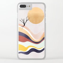 The Flowing Pale Desert Clear iPhone Case