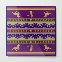 American Native Pattern No. 104 Metal Print