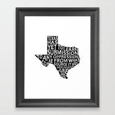 Texas Y'All Framed Art Print