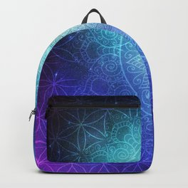 Abstract Flower of life Deep Space Backpack