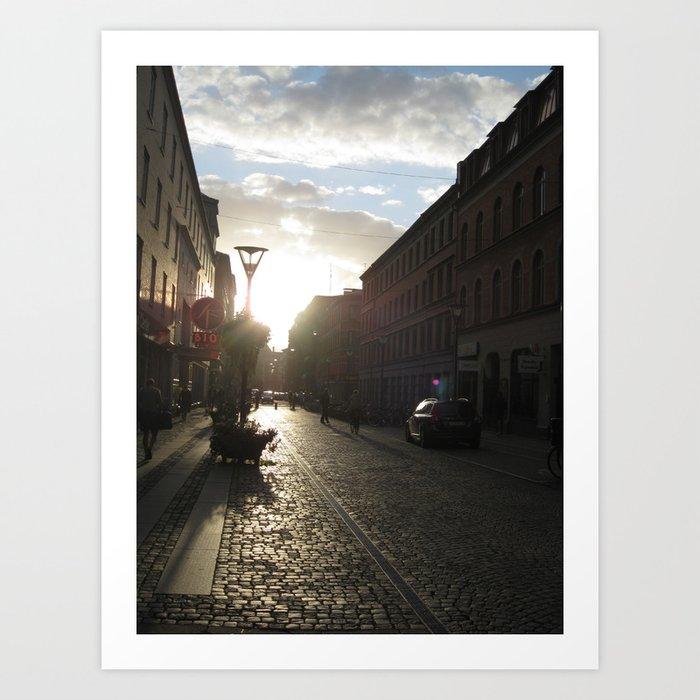 The Streets of Malmo Art Print