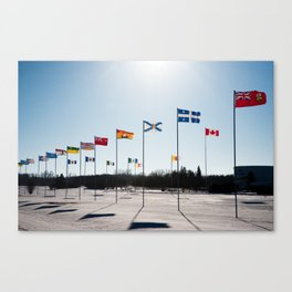 Flags at Bowden Canvas Print