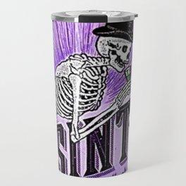 Vintage 1871 Purple Absinthe Liquor Skeleton Elixir Aperitif Cocktail Alcohol Advertisement Poster Travel Mug