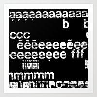 letraset Art Print