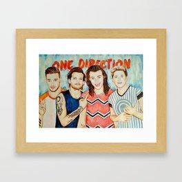 One Direction, Louis, Niall, Liam, Harry, Singer Framed Art Print