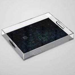 Midnight Square Acrylic Tray