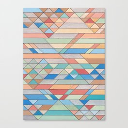 Triangle Pattern no.2 Colorful Canvas Print
