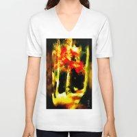 redhead V-neck T-shirts featuring Redhead by Nev3r