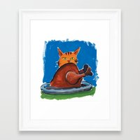 thanksgiving Framed Art Prints featuring Thanksgiving by Rothco Press