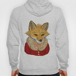 Sophisticated Fox Art Print Hoody