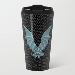 "Dragon Letter V, from ""Dracoserific"", a font full of Dragons Travel Mug"