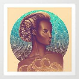 Amphitrite, Goddess of the Sea Art Print