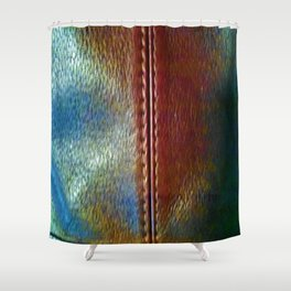 Faux Leather Shower Curtain
