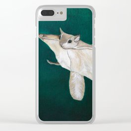 flying squirrel Clear iPhone Case