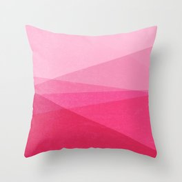 Stripe XI Cotton Candy Throw Pillow
