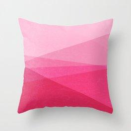 Stripe XI Cotton Candy Throw Pillow