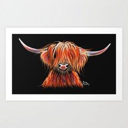 CoW PRiNT SCoTTiSH HiGHLaND ' CHaRLeY ' by SHiRLeY MacARTHuR Art Print