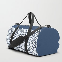 Half Knit Navy Duffle Bag