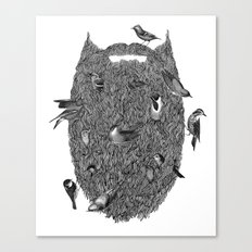 Bird Beard Canvas Print