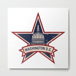 Washington D.C. Vintage Style Logo Metal Print