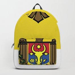 Moldova flag emblem Backpack