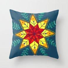Folk Star Throw Pillow