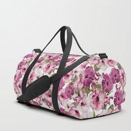 Hibiscus Pattern Duffle Bag