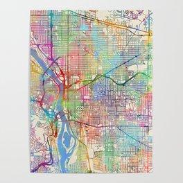 Portland Oregon City Map Poster
