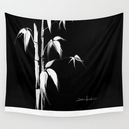 White bamboo Wall Tapestry