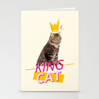 kit king Stationery Cards featuring King Cat by Kit & Cat