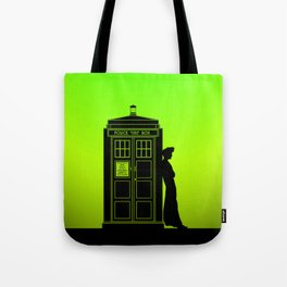 Tardis With The Tenth Doctor Tote Bag