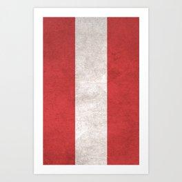 Austria Flag (Vintage / Distressed) Art Print