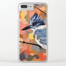 Belted Kingfisher Clear iPhone Case