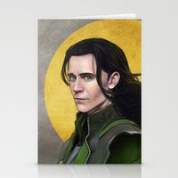 loki Stationery Cards featuring Loki by Slugette