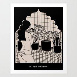 9. THE HERMIT Art Print