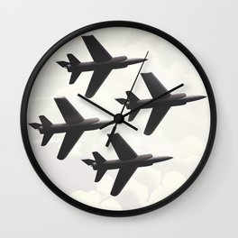 US Navy flight poster Wall Clock