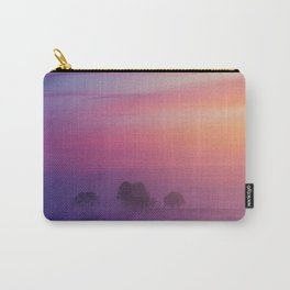 Snowy Winter Sunset Landscape Carry-All Pouch