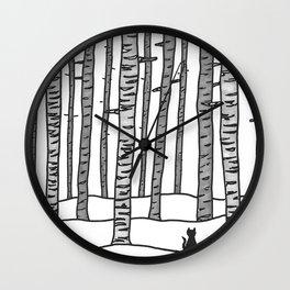 Cat Waits Wall Clock