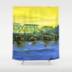 New Hope-Lambertville Bridge Shower Curtain