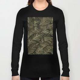 Tropical Leaves – Taupe Palette Long Sleeve T-shirt