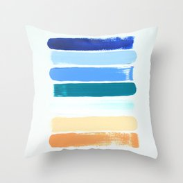 Beach Stripes Throw Pillow