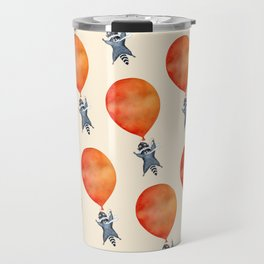 Raccoon and Balloon Travel Mug