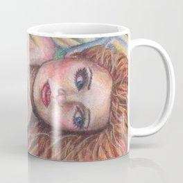 Mermaid Art Pastel ORIGINAL Resting Spot by Laurie Leigh Fantasy Coffee Mug