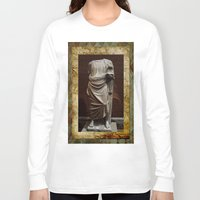 greece Long Sleeve T-shirts featuring Greece  by Saundra Myles