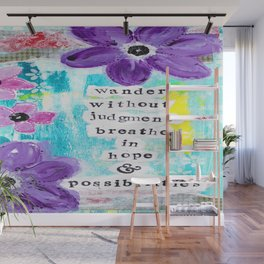 WANDER WITHOUT JUDGEMENT Wall Mural