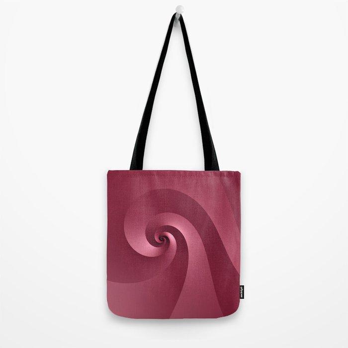 Rose-colored Wave Tote Bag