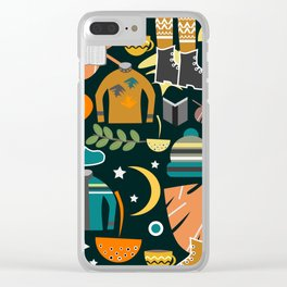 Autumn clothing Clear iPhone Case