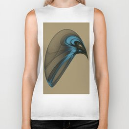 Fractal Bird with Sharp Beak Biker Tank