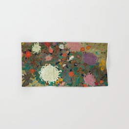 flower【Japanese painting】 Hand & Bath Towel